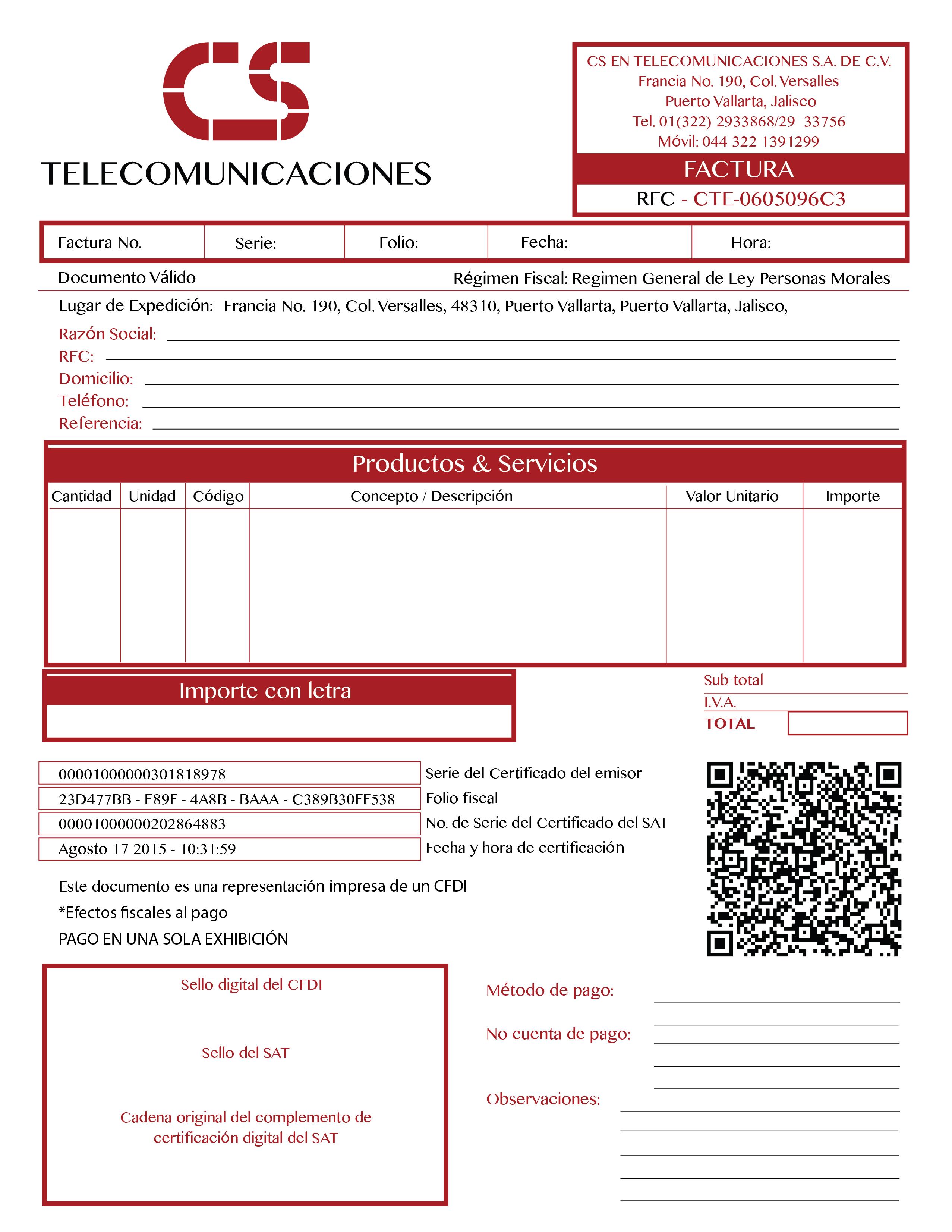 index of contpaq respaldo formatos facturas cs telecom