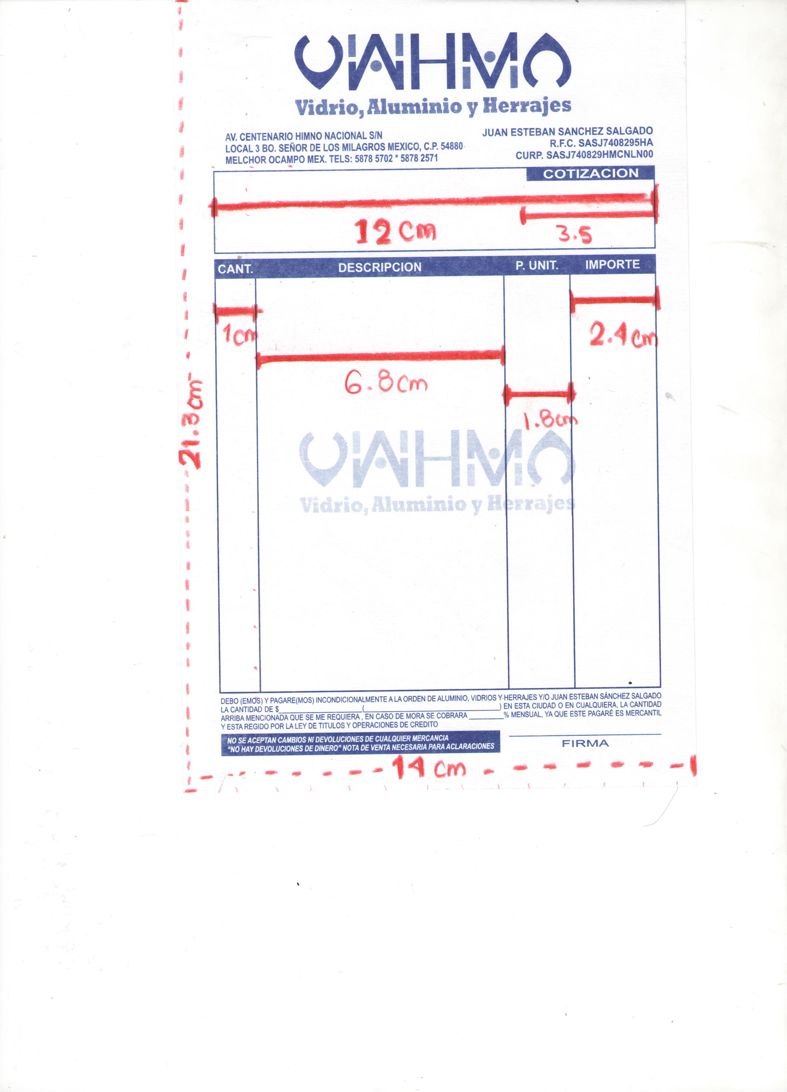 index of contpaq respaldo formatos facturas vidrio aluminio y herrajes